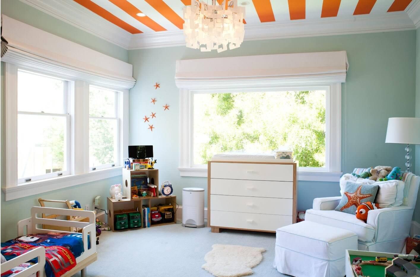 Комбинированный потолок в детской